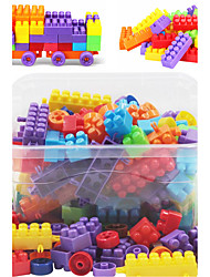 cheap -Approx 130PCS Interlocking Assembly Big Bricks Building Blocks DIY Early Educational Construction Toys Set Kid Model Designer Jigsaw Toys Kit