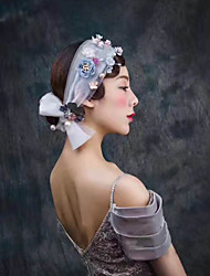 Tulle Headpiece-Wedding Birthday Party/ Evening Graduation Flowers 1 Piece