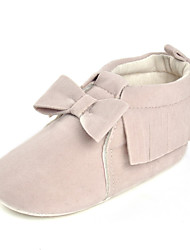 cheap -Baby Shoes Fabric Spring Fall Comfort Flats Bowknot for Wedding Casual Outdoor Party & Evening Beige Light Grey Pink