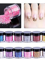 pinpai 12 couleurs un paillettes à ongles uniques 10g bouteille art mélangé des paillettes à gradient