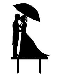 Недорогие -Украшения для торта Пляж Сад Бабочки Классика Деревенская тема Урожай Theme Свадьба Классическая пара пластик Свадьба Для вечеринок