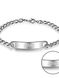 Europe and the exquisite retro Metrosexual titanium casting stainless steel bracelet laser engraving