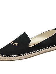 cheap -Women's Shoes Linen Summer Fall Comfort Espadrilles Loafers & Slip-Ons for Casual Black Beige Blue