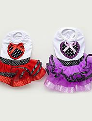 abordables -Chien Robe Vêtements pour Chien Décontracté / Quotidien Princesse Violet Rouge Costume Pour les animaux domestiques