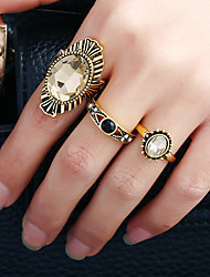 Women's Band Rings Ring Cuff Ring Circular Fashion Rock Euramerican Metal Alloy Rhinestone Alloy Circle Round Irregular Jewelry For