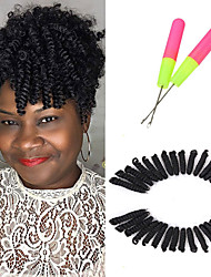 cheap -10inch Bouncy Curl Hair Short Curly Crochet Braids Hair kanekalon fiber 20strands/pack Synthetic toni Curl Braiding Hair Extensions 5packs make head