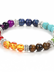cheap -Men's Women's Bohemian Chain Bracelet Strand Bracelet - Vintage Bohemian Natural Round Rainbow Bracelet For Dailywear Outdoor clothing