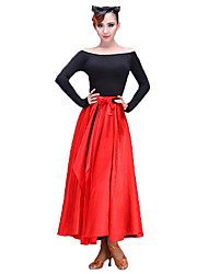 cheap -Latin Dance Women's Performance Senior Emulation Silk / Stretch Chiffon Skirts
