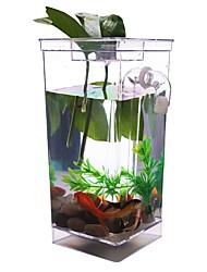 Transparent My Fun Fish Self Cleaning Tank Complete Aquarium Setup Gift Volume 1L Aquarium Setup Lovely Cute