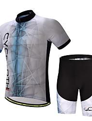 Недорогие -Велокофты и велошорты Муж. С короткими рукавами Велоспорт Наборы одежды Фиксирующий шнурок Хорошая вентиляция Фитиль МягкостьПолиэстер