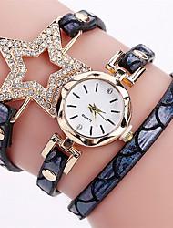 New FUNIQUE Fashion Women Bracelet Watch Women Full Crystal Star Quartz Wristwatch Women Gift PU Casual Bracelet Watches