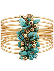Women's Bangles Wrap Bracelet Natural Bohemian Punk Rock Metal Alloy Resin Rhinestone Circle Jewelry For Date Baby Shower Street Club