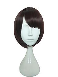 abordables -Pelucas sintéticas Recto / Liso Natural Corte Bob Pelo sintético Negro Peluca Mujer Corta Sin Tapa