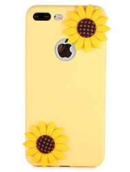 billige -Etui til apple iphone 7 plus 7 cover mønster bagcover case blomst 3d tegneserie blød silikone 6s plus 6 5 5s