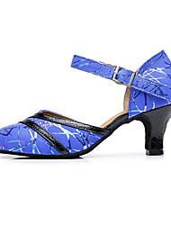 Damen Modern Leder Andere Tierhaut Sandalen Sneaker Professionell Verschlussschnalle Blockabsatz Blau 5 - 6,8 cm Maßfertigung