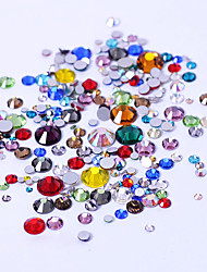 cheap -300pcs Non HotFix Mix Size Nail Art Rhinestones With Round Base For Nails Shoes And Wedding Decoration