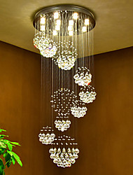 cheap -LED Crystal Ceiling Pendant Lights Modern Chandeliers Home Hanging LED Lighting Chandelier Lamps Fixtures