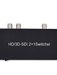 cheap -SDI Switcher 2X1 HD Switch 2 SDI Signal to 1 SDI Output Converter for 3G HD SD Monitor Security Camera CCTV Video