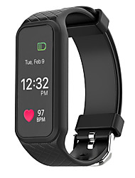 L38i Smart Bracelet iOS Android Calories Burned Pedometers Sports Heart Rate Monitor Touch Screen Light and ConvenientFinger sensor