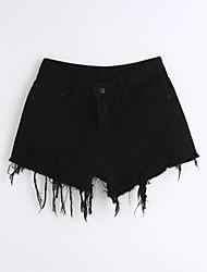 cheap -Women's Mid Rise Micro-elastic Slim Jeans Shorts Pants,Cute Casual Solid Denim Summer