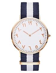 baratos -Homens Bracele Relógio Chinês Impermeável / Criativo Tecido Banda Amuleto / Casual / Elegante Preta / Vermelho / Rosa / Aço Inoxidável