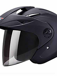 cheap -HONGYE 618 Motorcycle helmet male electric car female summer four seasons half helmet half full-style helmet sunscreen UV foggy rain
