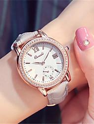 Mulheres Relógio de Moda Relógio de Pulso Quartzo Calendário Couro Banda Preta Branco Cinza