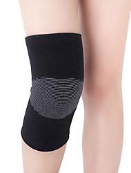 Недорогие -Гетры для бега Фиксатор колена для Йога Бег Шоссейные велосипеды Поддержка мышц Чистый хлопок 100% углеволокно Хлопко-полимерная смешанная ткань 1 пара Одежда для спорта и отдыха Черный Серый