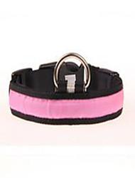 cheap -Dog Collar Dog Training Collars Portable Adjustable Solid Nylon Yellow Pink Light Blue