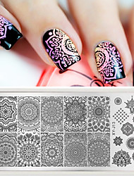 1pcs Fashionable Nail Stamping Plates Nail Art Beauty Image Stencils Polish Templates