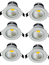cheap -6pcs/lot Round Recessed LED Downlight AC 85-265V COB LED Spot Lamp 7W Angle Adjustable Ceiling Downlight for Home/Office