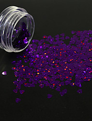cheap -1g/Bottle Fashion Nail Art Lovely Heart Shape Flash Sequins Glitter Starry DIY 3D Paillette Gorgeous Dark Purple Shining Decoration 1511W