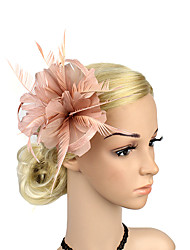 cheap -Plastic Fascinators Flowers 1 Wedding Special Occasion Party / Evening Headpiece