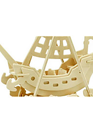 cheap -3D Puzzles Jigsaw Puzzle Wood Model Dinosaur Plane / Aircraft Ship 3D DIY Wooden Wood Classic Pirate Unisex Gift