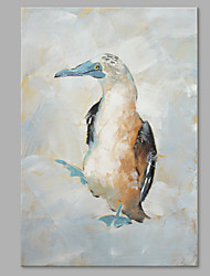 cheap -IARTS® Hand Painted Modern Abstract Bird Walking in the Snow Field Oil Painting On Canvas with Stretched Frame Wall Art For Home Decoration