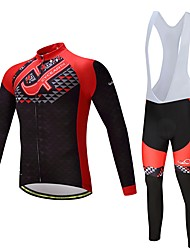 cheap -Cycling Jersey with Bib Tights Unisex Long Sleeves Bike Clothing Suits Ventilation Quick Dry Polyester Spandex Silicon LYCRA® Autumn