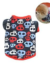 Katze Hund Mäntel T-shirt Pullover Hundekleidung Party Lässig/Alltäglich warm halten Totenkopf Motiv Schwarz Tarnfarbe