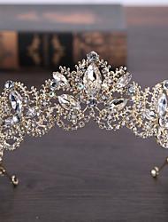 Brass Imitation Pearl Tiaras Headpiece