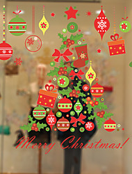 Window Film Window Decals Style Christmas Tree Gift Wind Chimes PVC Window Film