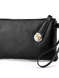 cheap -Women Bags PU Money Clip Zipper for Shopping Daily Casual All Seasons Black