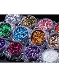 preiswerte -# losen Pulver Glitter Pulver klassischen hellen Pailletten Nail Art Design