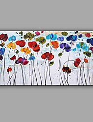 Hand-Painted Knife Flower Oil Painting Wall Art With Stretcher Frame Ready To Hang