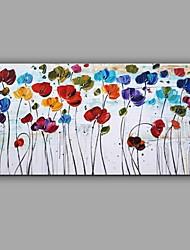 Pintada a mano Floral/Botánico Abstracto Un Panel Lienzos Pintura al óleo pintada a colgar For Decoración hogareña
