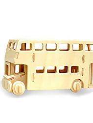 Недорогие -3D пазлы Пазлы Деревянные игрушки Динозавр Летательный аппарат Автобус Двухэтажный автобус 3D Своими руками деревянный Дерево Классика