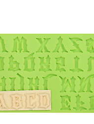 cheap -Warcraft Movies Font Capital Letter Silicone Fondant Mold Cake Decoration Tools for Chocolate Fimo Clay Mold