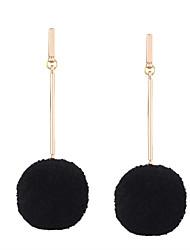 cheap -Fashion Women Trendy Fur Ball Long Earrings