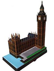 economico -Puzzle 3D Modellino di carta Lavoretti con la carta Kit per costruzioni Edificio famoso Orologio Architettura Grande ben 3D Fai da te