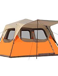 cheap -CAMEL 5-8 persons Tent Cabin Tent Double Camping Tent One Room Fold Tent Waterproof Windproof Rain-Proof for Camping / Hiking Fishing