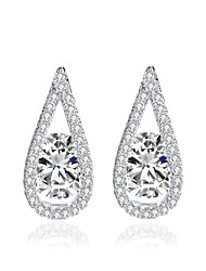 cheap -Women's Stud Earrings Fashion Classic Zircon Alloy Drop Jewelry For Wedding Party Engagement Gift Evening Party