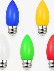 1.5W Luci LED a candela 8 SMD 2835 70-100 lm Bianco Giallo Verde Rosso Blu Decorativo AC220 V 5 pezzi